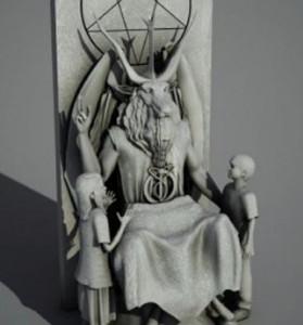 Aunque Usted no lo crea: Grupo satánico presenta la estatua del demonio «para los niños» y piden colocar en espacio público