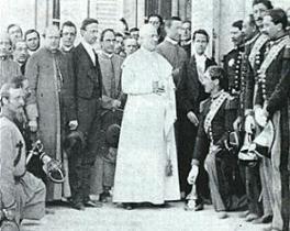 S.S Pio IX :seamos firmes nada de conciliación; nada de transacción vedada e imposible».