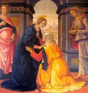La Visitación de María Santísima a su prima Santa Isabel.