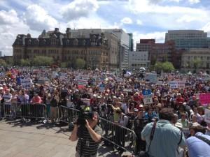 Marcha por la vida en la Colina Parlamentaria en Canadá