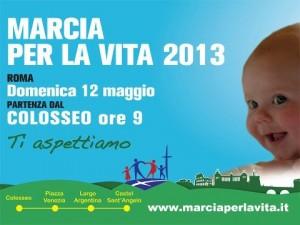 Marcha por la vida en Italia.