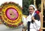"""Madre de familia porta claro mensaje pro vida en tradicional desfile de """"silleteros"""" en Colombia"""