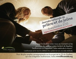 Este 6 de septiembre  unámonos  al día Nacional de ayuno y oración para luchar contra la eutanasia.