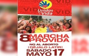 Marcha por la vida en Colombia este 17 de mayo.